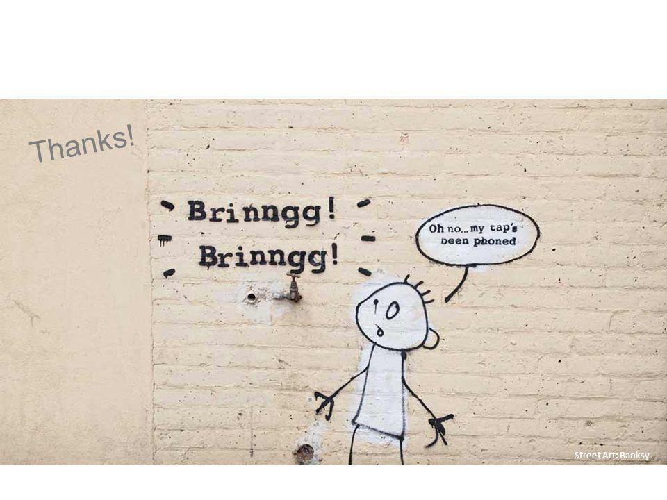 Street Art: Banksy Thanks!