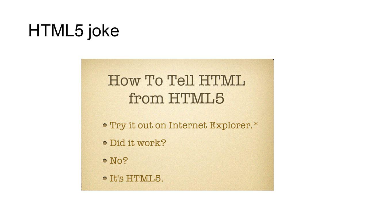 HTML5 joke
