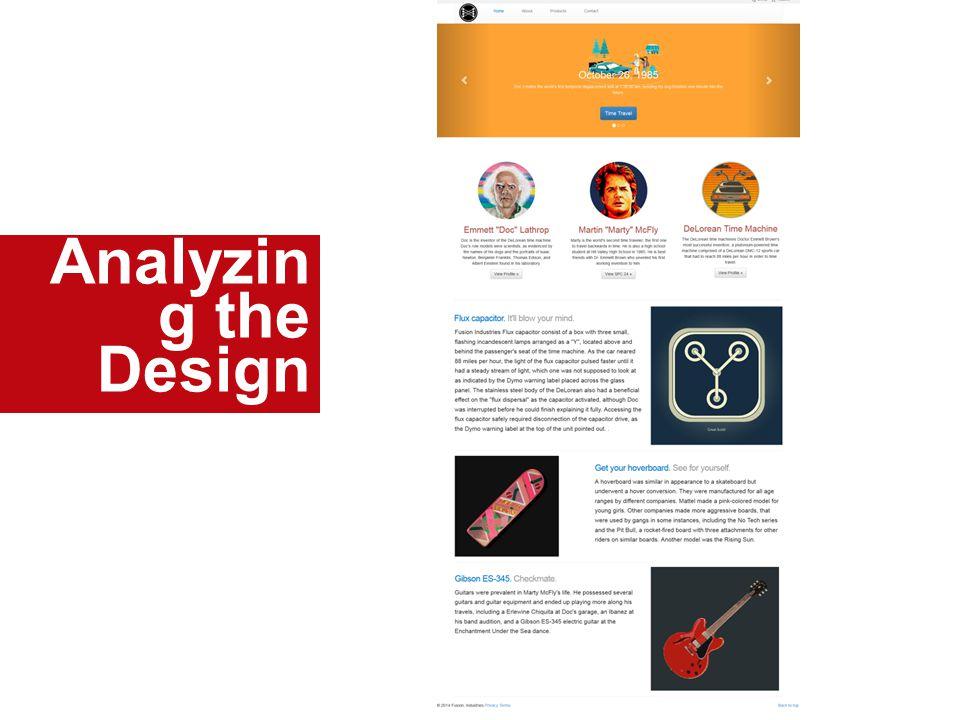 Analyzin g the Design