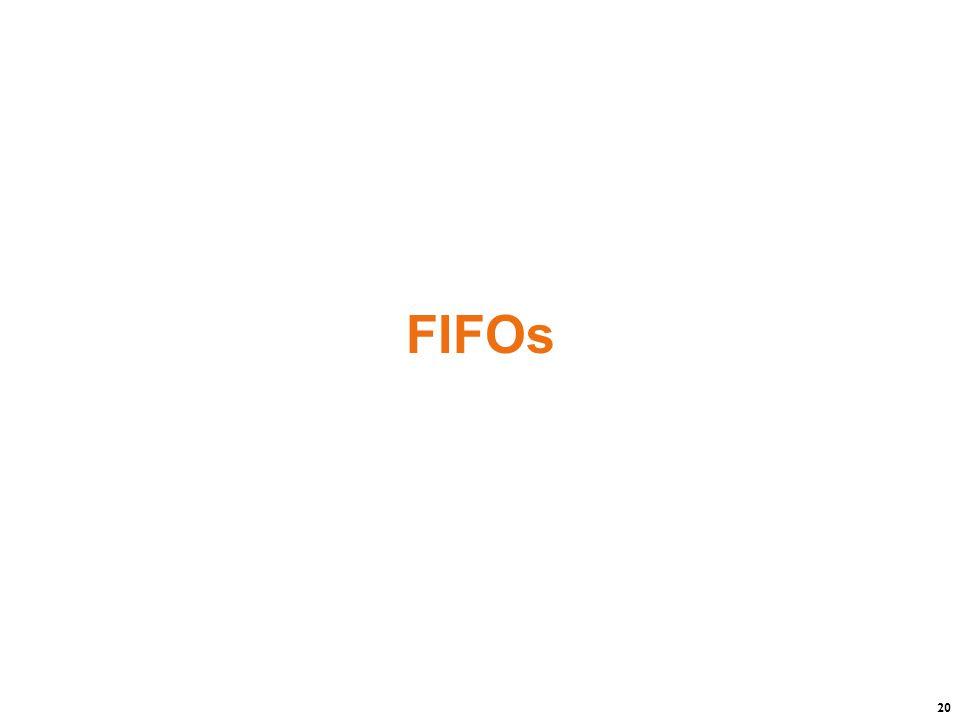 20 FIFOs