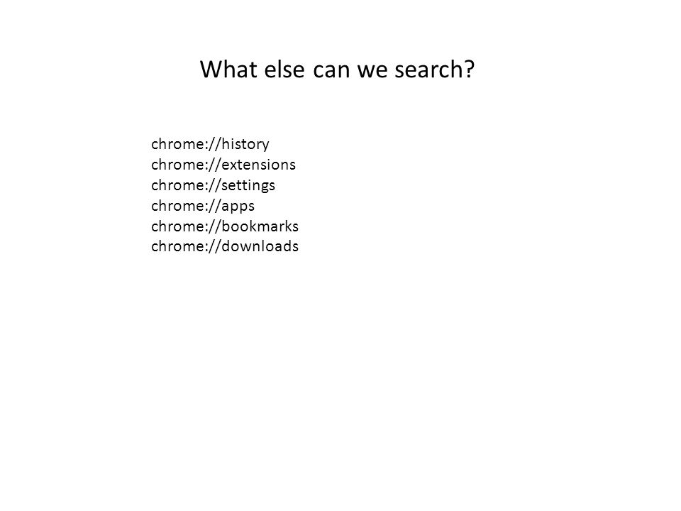 What else can we search.