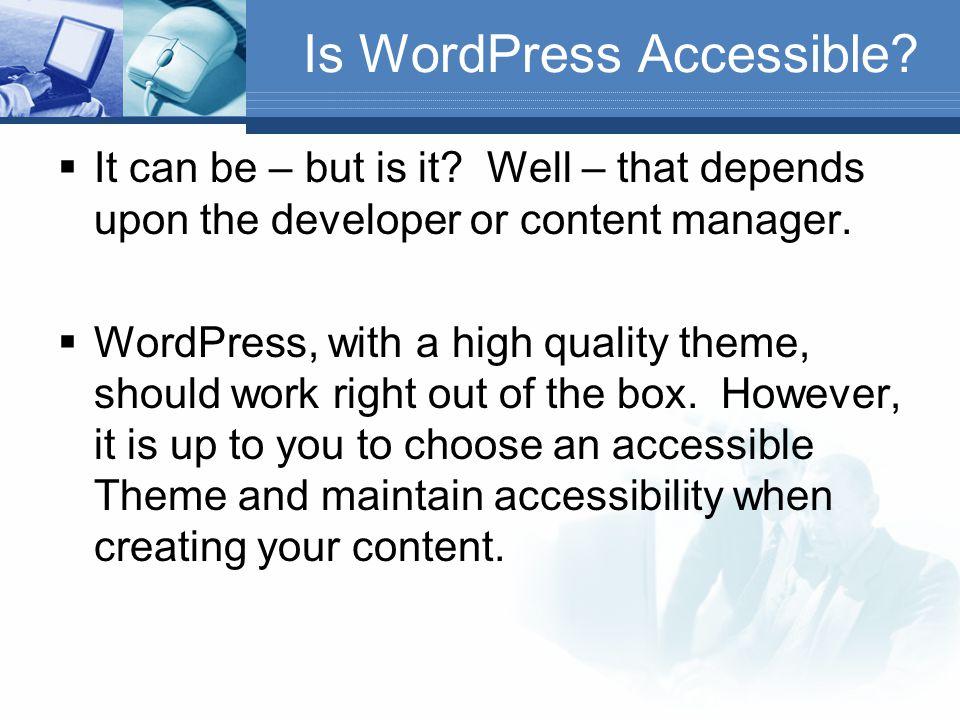 Solutions  Expanded Admin Menus – http://wordpress.org/extend/plugins/expan ded-admin-menus/ http://wordpress.org/extend/plugins/expan ded-admin-menus/  Ozh Admin Drop Down Menu – http://wordpress.org/extend/plugins/osh- admin-drop-down-menu/ http://wordpress.org/extend/plugins/osh- admin-drop-down-menu/