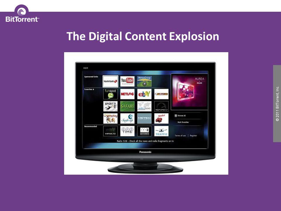© 2010 BitTorrent, Inc. © 2011 BitTorrent, Inc. The Digital Content Explosion