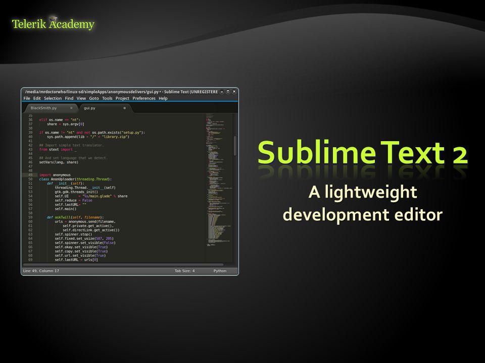 A lightweight development editor