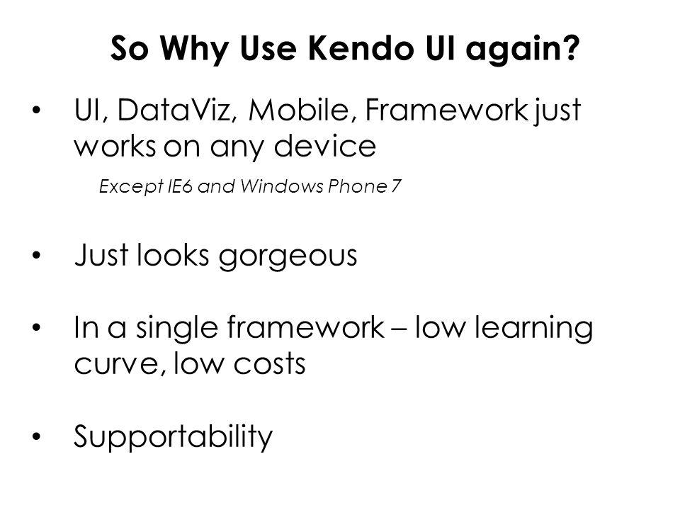 Why use Kendo UI? It looks slick everywhere