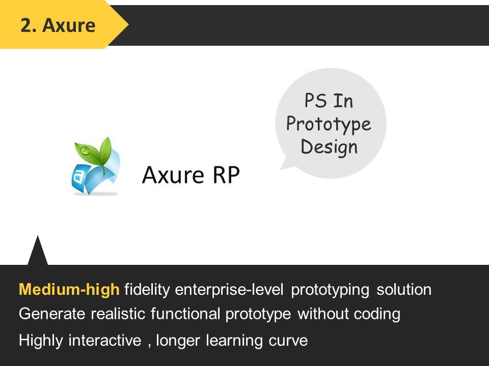 Axure RP Medium-high fidelity enterprise-level prototyping solution 2.
