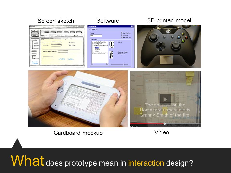 What does prototype mean in interaction design.