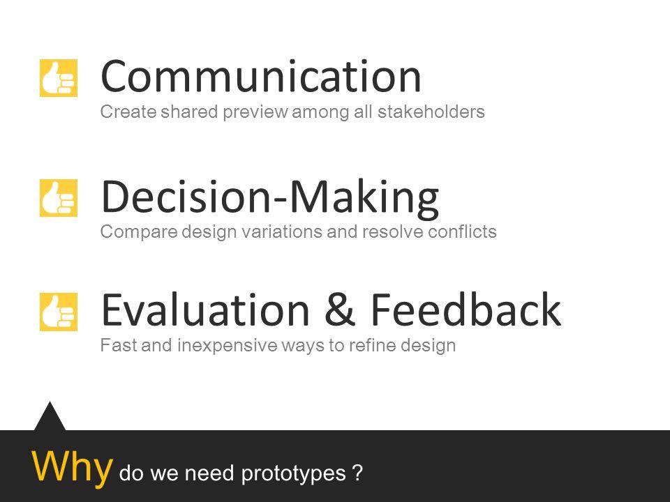 Why do we need prototypes .