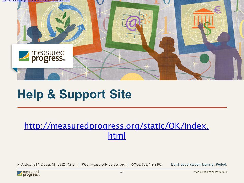 Measured Progress ©2014 57 P.O.