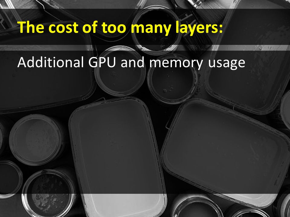 The cost of too many layers: Additional GPU and memory usage