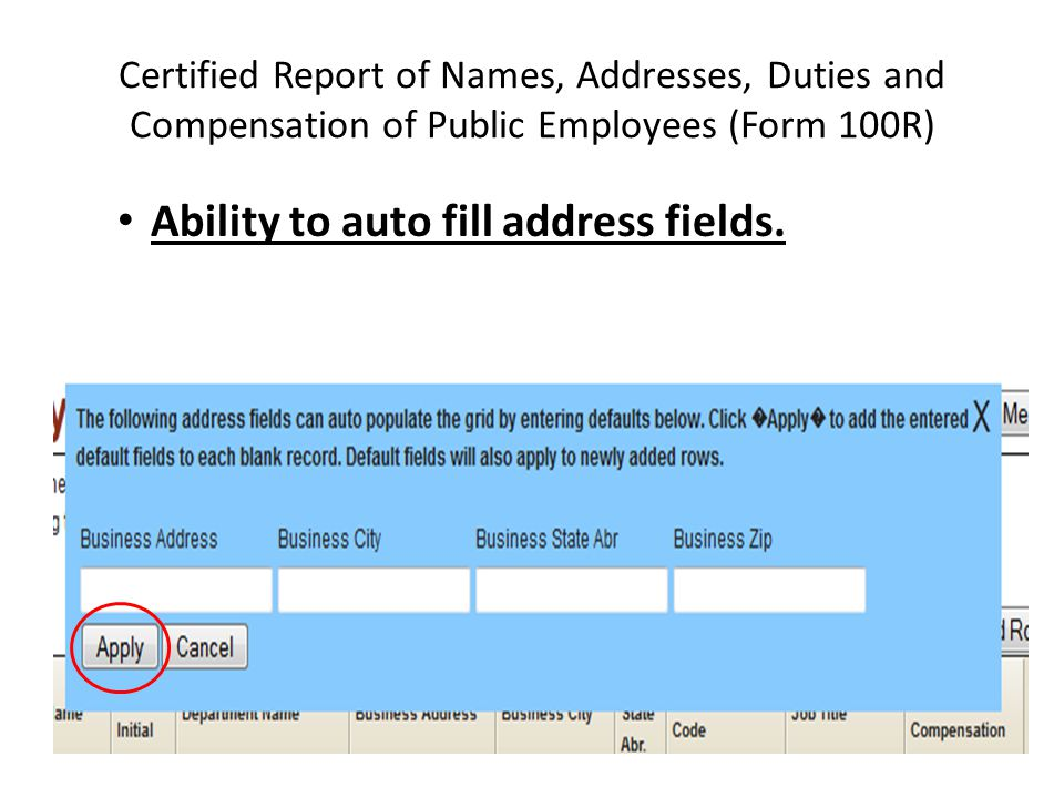 Ability to auto fill address fields.