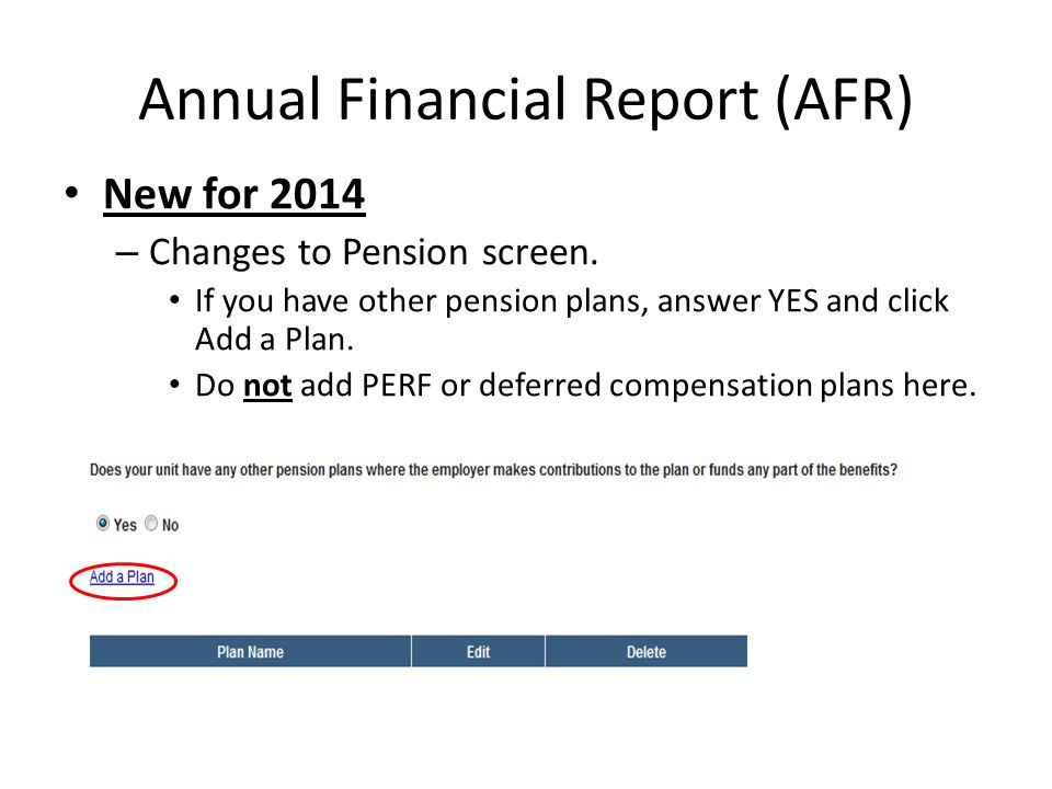 New for 2014 – Changes to Pension screen.
