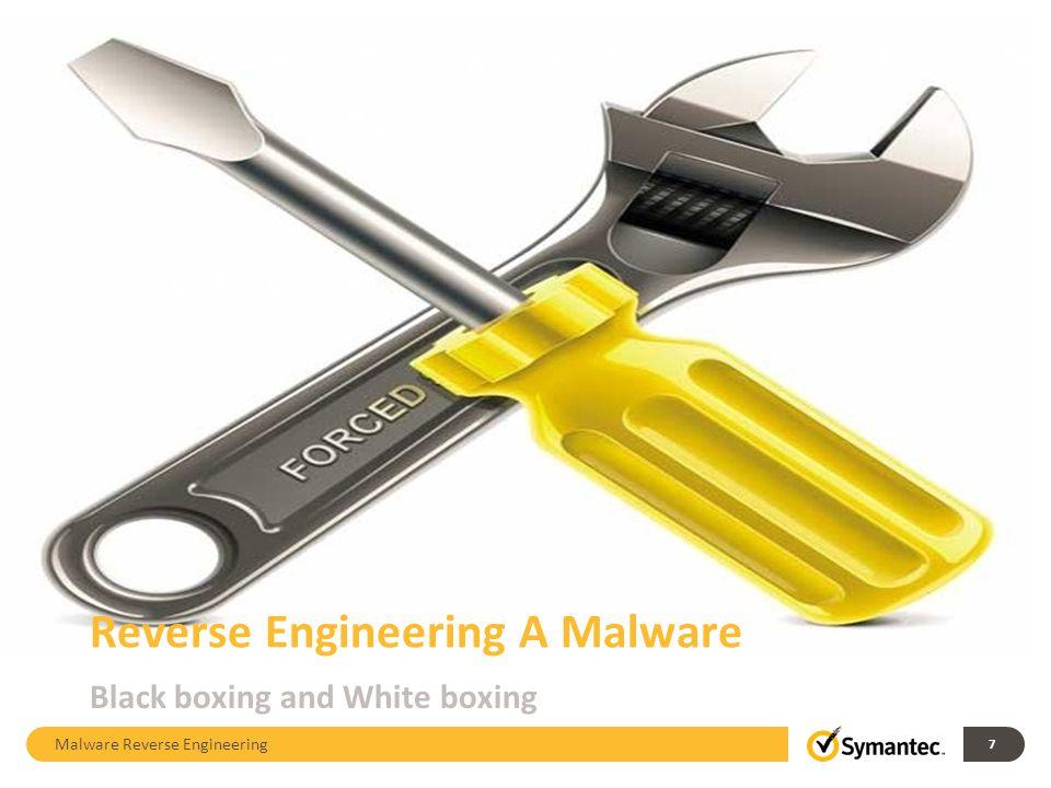 Analysis of a malware Malware Reverse Engineering 8 8
