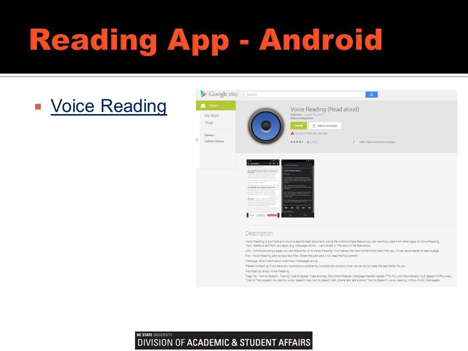  Voice Reading Voice Reading