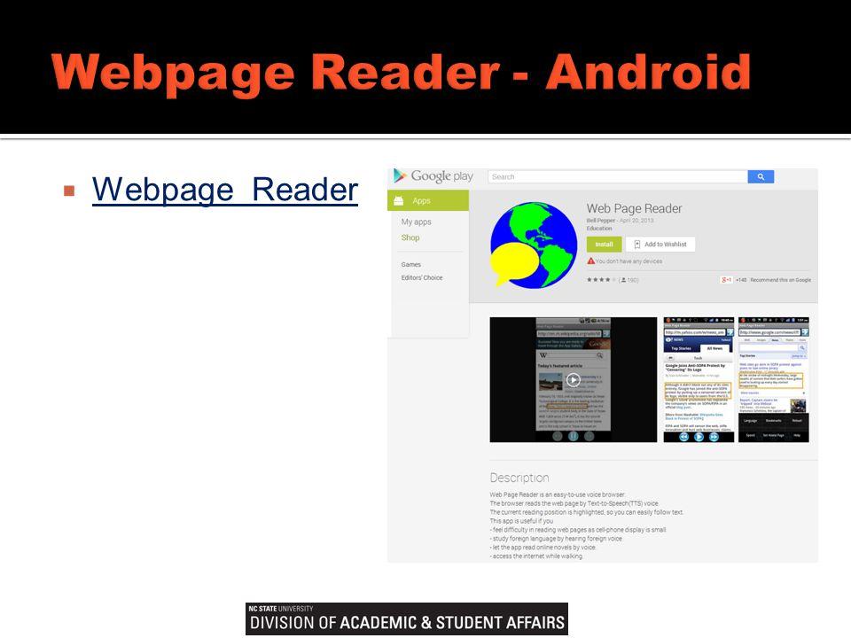  Webpage Reader Webpage Reader