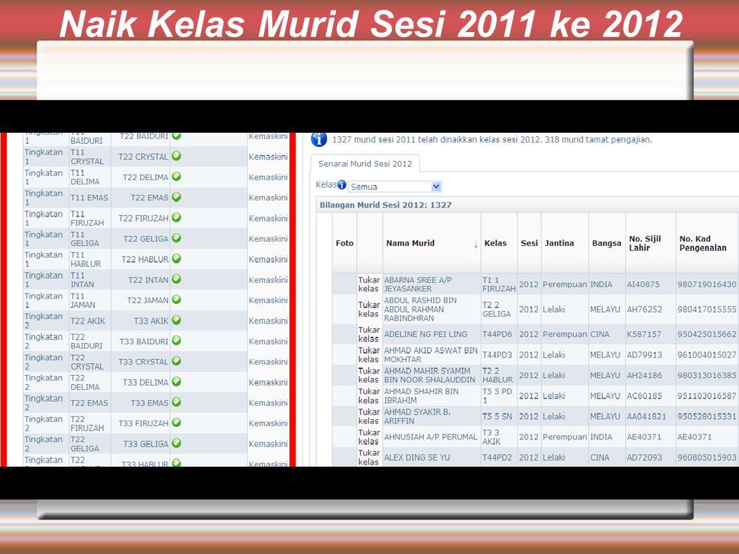 Naik Kelas Murid Sesi 2011 ke 2012