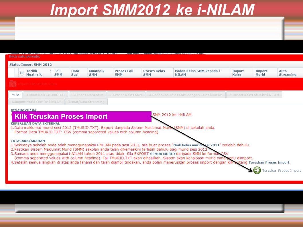 Klik Teruskan Proses Import