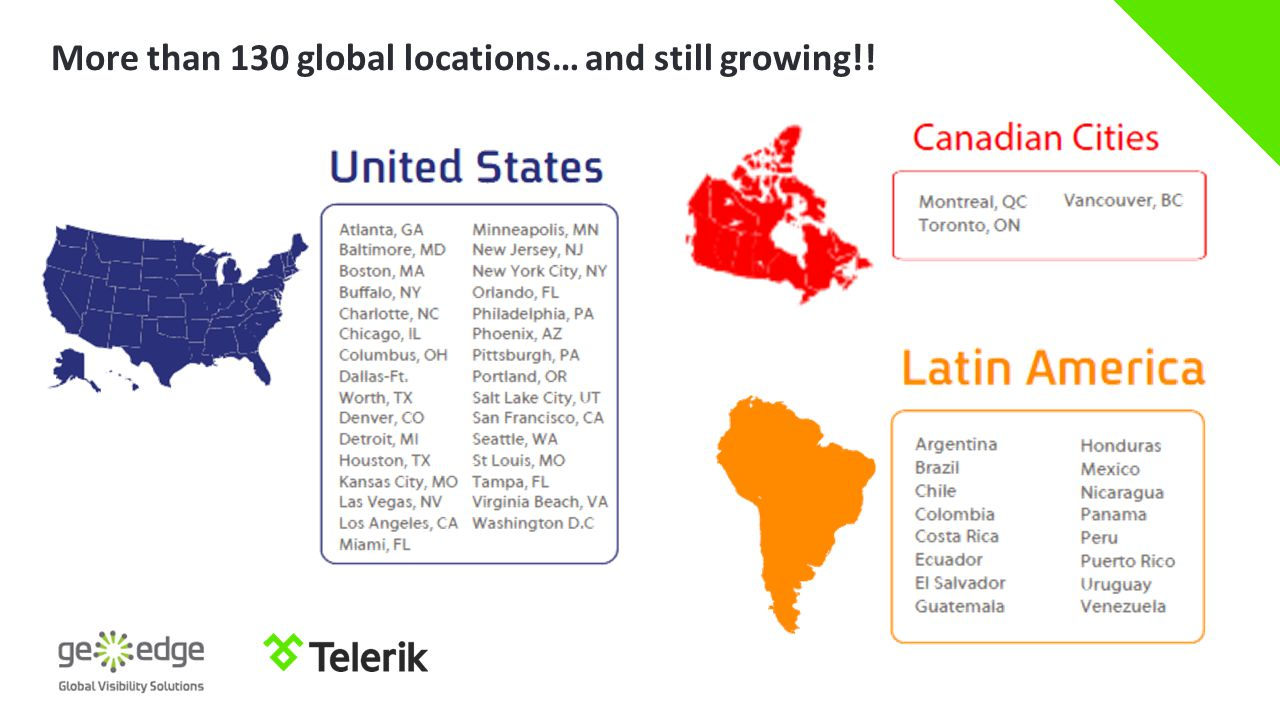 More than 130 global locations… and still growing!!