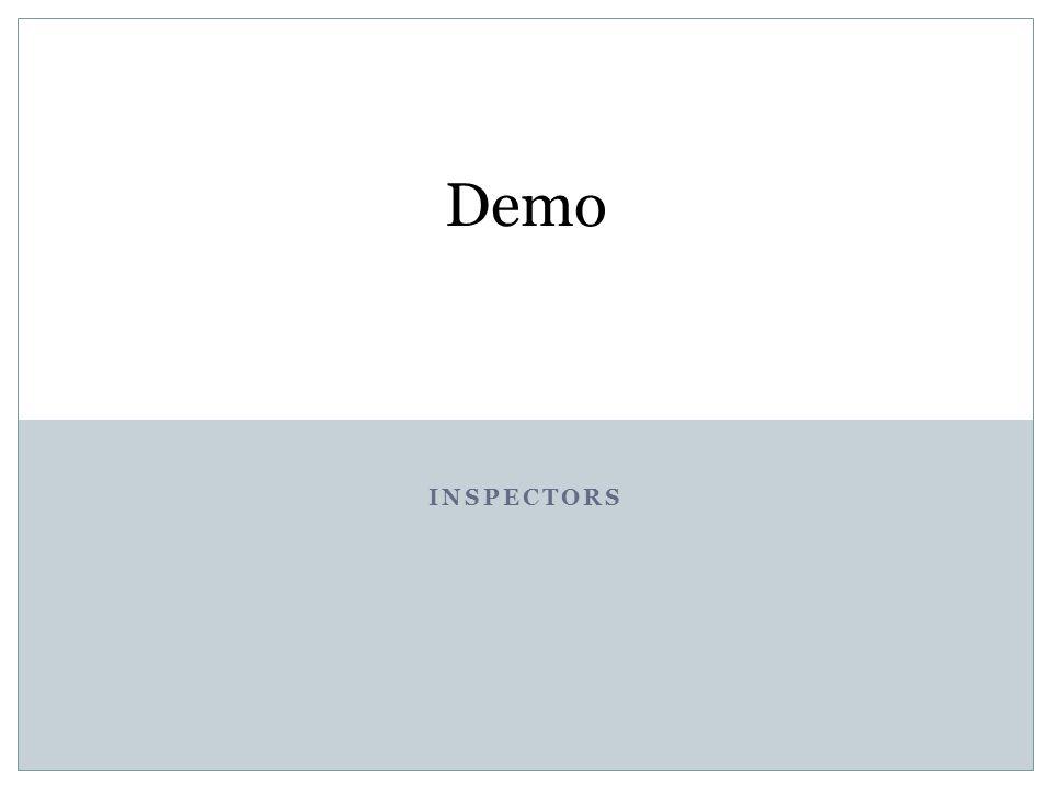 INSPECTORS Demo