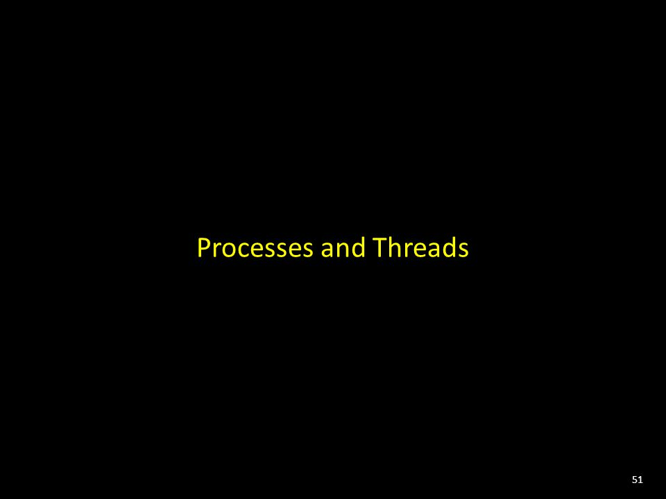 51 Processes and Threads
