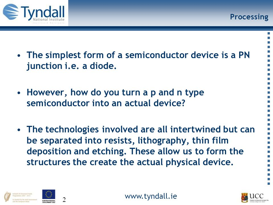 www.tyndall.ie 43 End of Lecture 1 Thanks for listening Any questions?