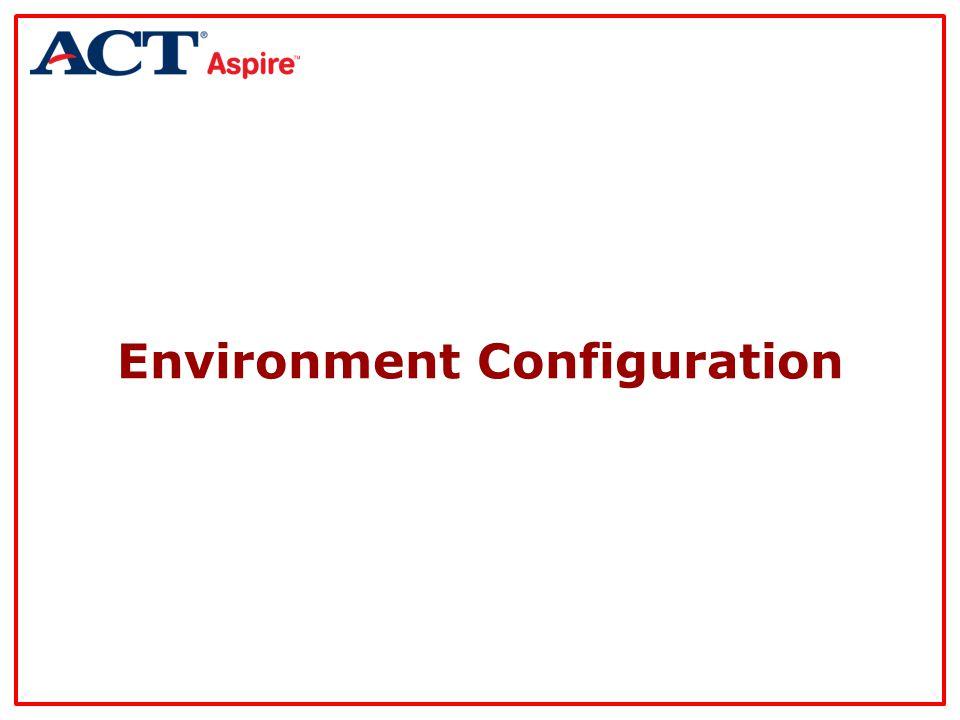 Environment Configuration