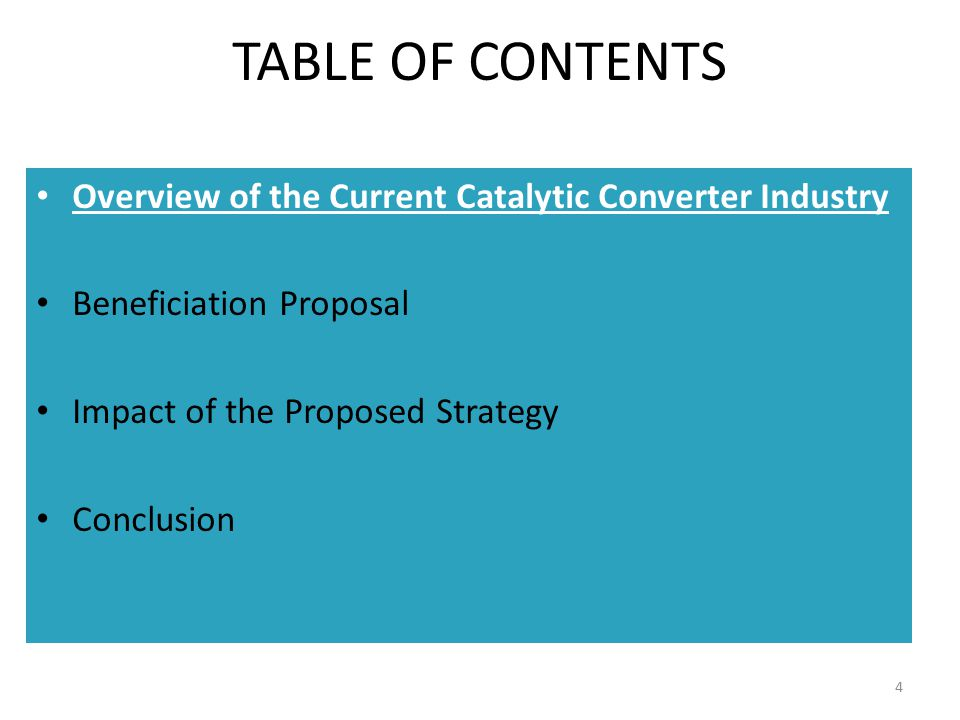5 HISTORIC AND PROJECTED VOLUMES AND INCENTIVE LEVELS FOR CATALYTIC CONVERTER EXPORTS Incentive level (%)** Converter Volume (millions) Volume Projection ** Based on current legislation Magnetti Marelli Closes Cummins to Close 3 rd Canner to Potentially Close