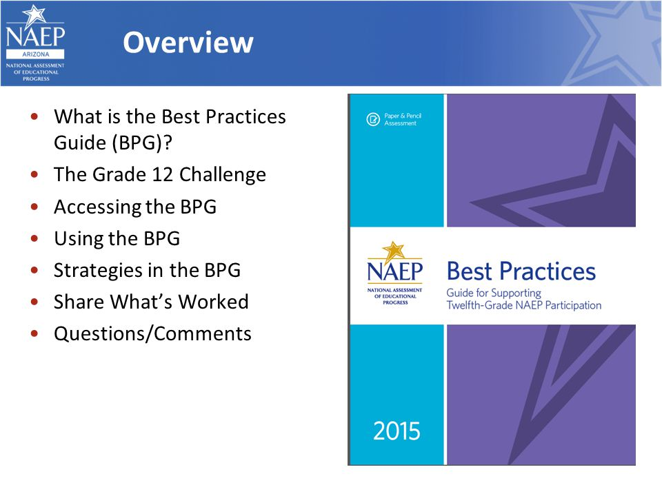 Overview What is the Best Practices Guide (BPG).