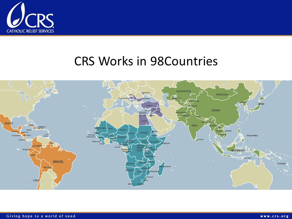 CRS Works in 98Countries