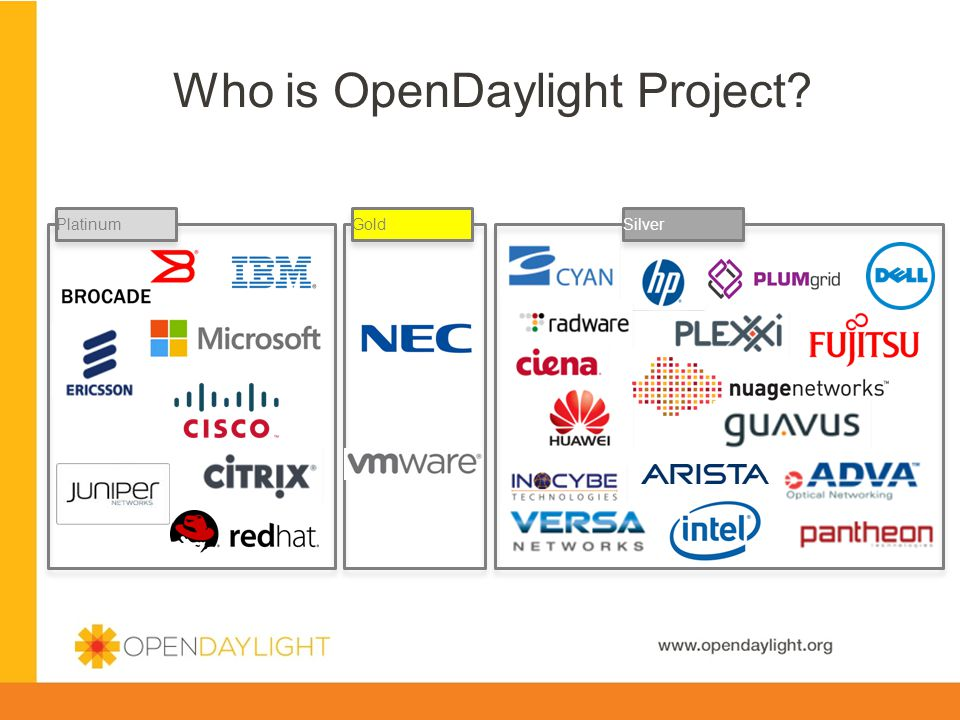 Created by Jan Medved www.opendaylight.org PlatinumGoldSilver Who is OpenDaylight Project?