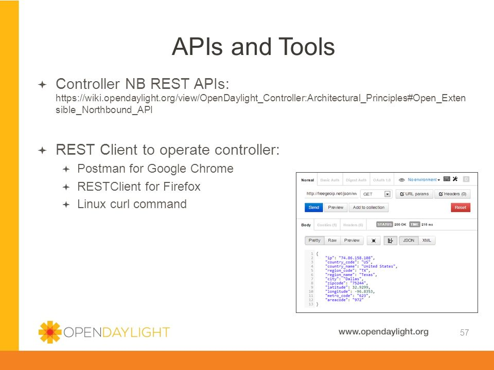 Created by Jan Medved www.opendaylight.org  Controller NB REST APIs: https://wiki.opendaylight.org/view/OpenDaylight_Controller:Architectural_Princip