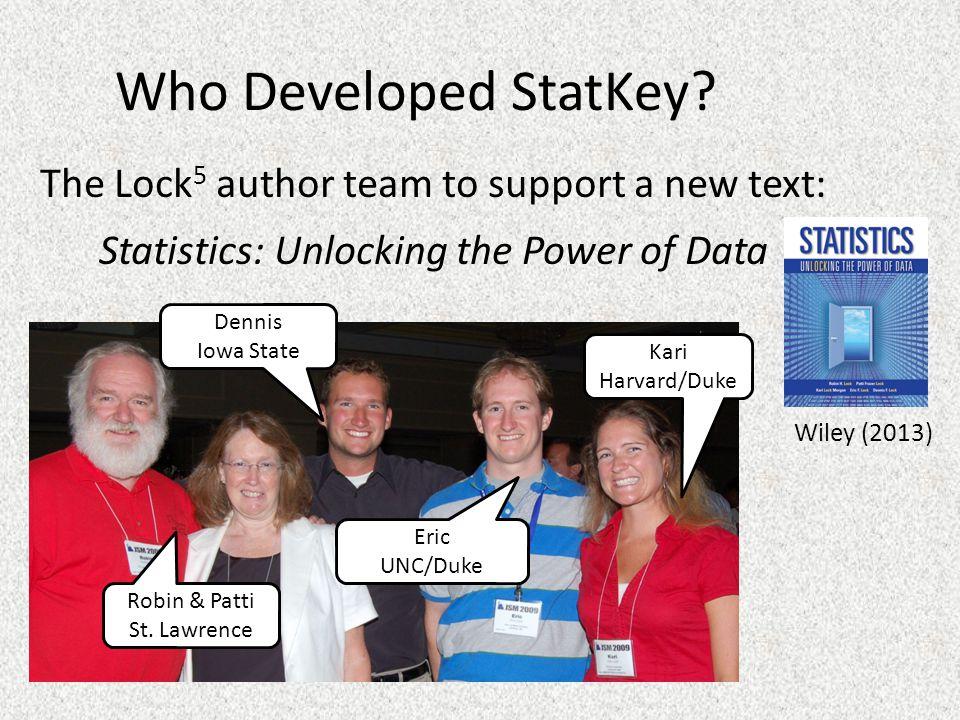 Who Developed StatKey.