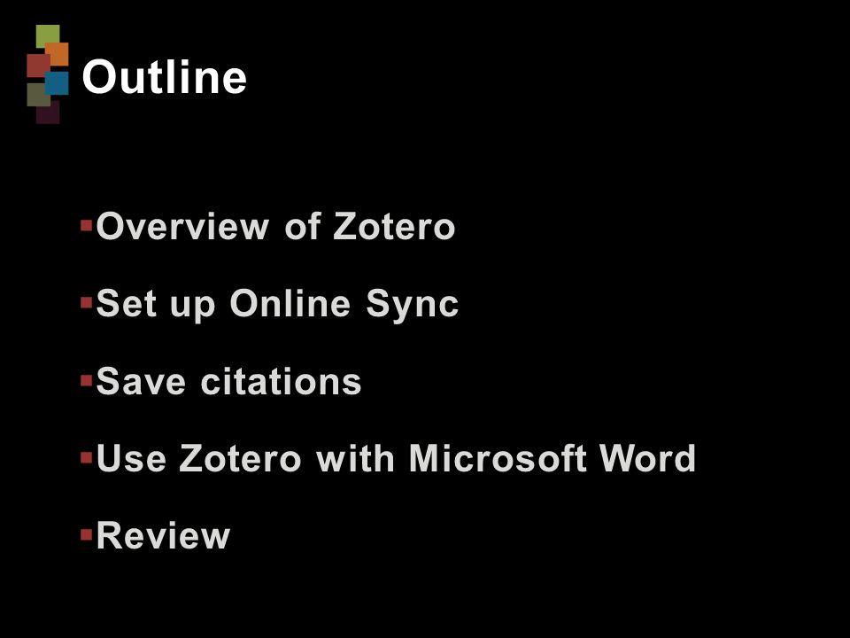 Install Zotero 1.Go to Zotero.org 2.Click Download Now 3.Under Zotero Standalone, click Zotero 4.0 [for Windows or Mac] 4.Click preferred browser extension to install