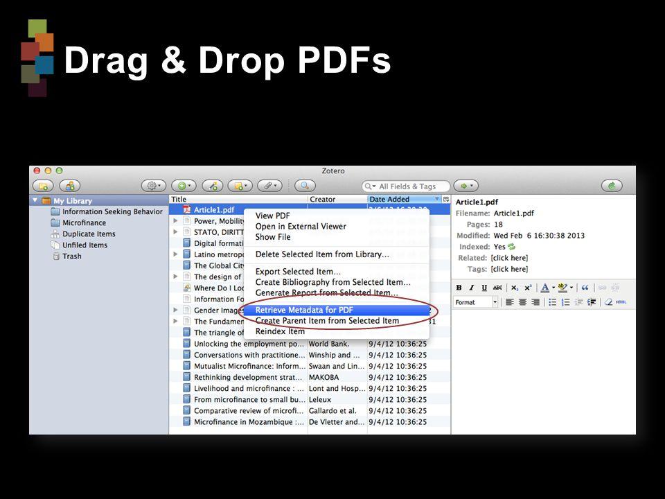 Drag & Drop PDFs