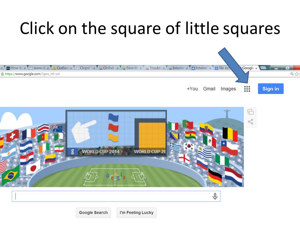Click on the square of little squares