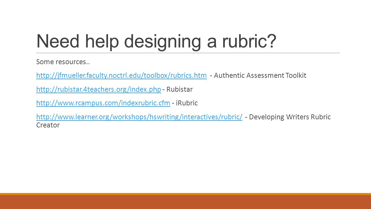 Creating a Rubric in Moodle YouTube Video - Rubrics in Moodle 2.2 https://www.youtube.com/watch?v=KXavtUhDINA&feature=youtu.be Moodle Documentation – lots of information