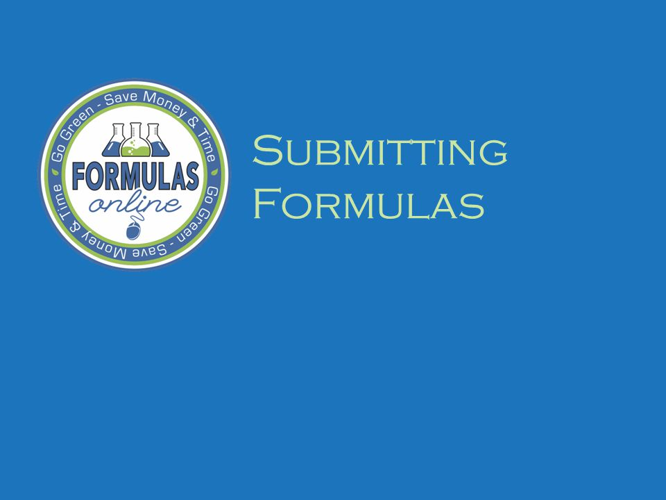 Submitting Formulas