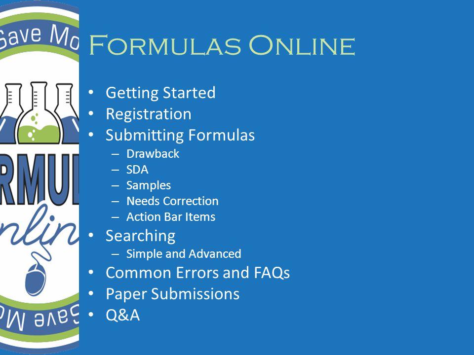 Submitting Formulas Action Bar Items