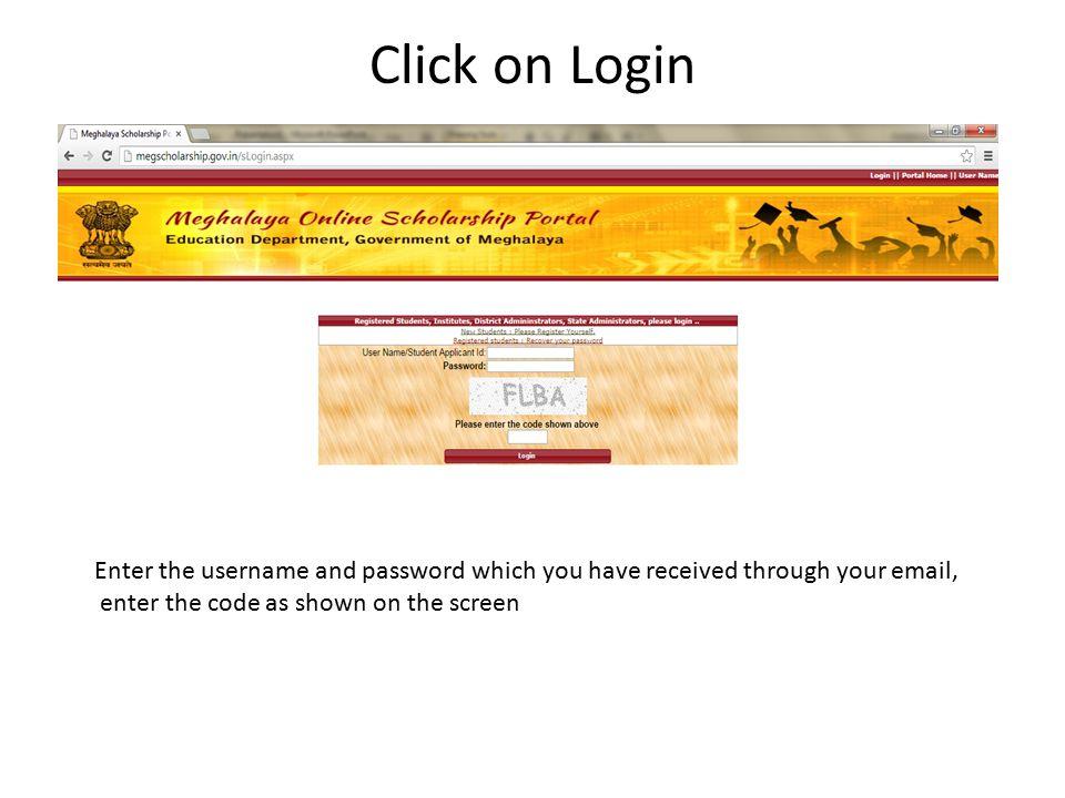 Successful login