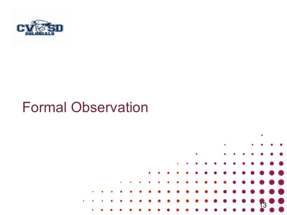 Formal Observation 13