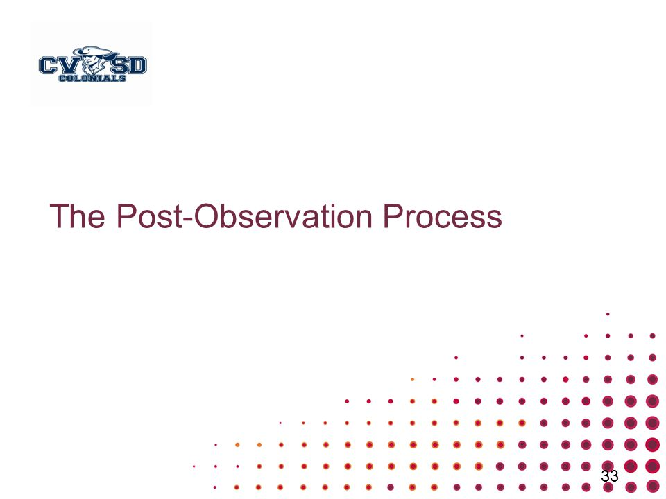 The Post-Observation Process 33