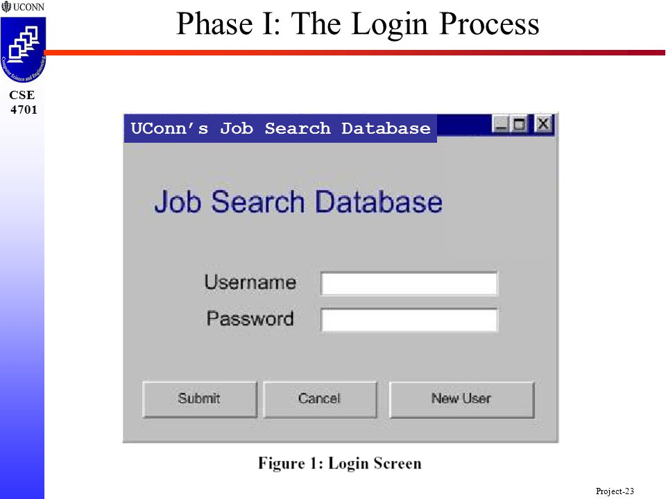 CSE 4701 Project-23 UConn's Job Search Database Phase I: The Login Process