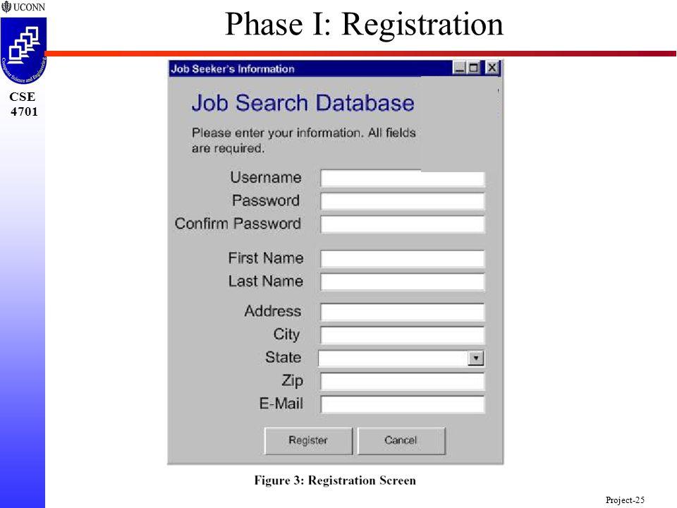 CSE 4701 Project-25 Phase I: Registration