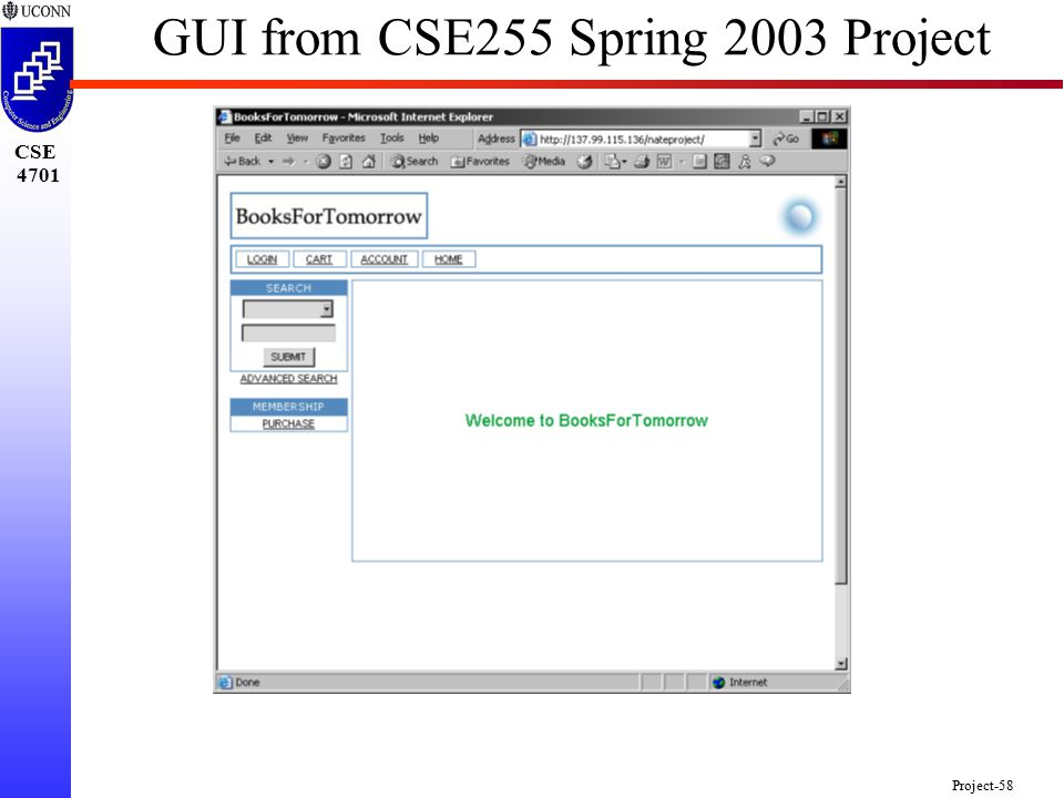 CSE 4701 Project-58 GUI from CSE255 Spring 2003 Project
