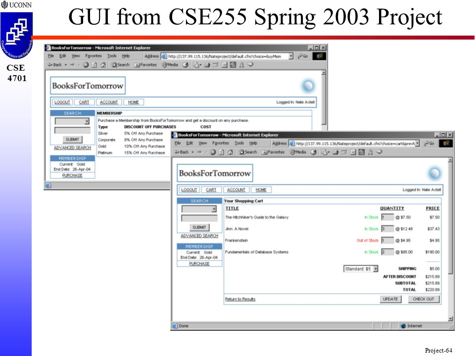 CSE 4701 Project-64 GUI from CSE255 Spring 2003 Project