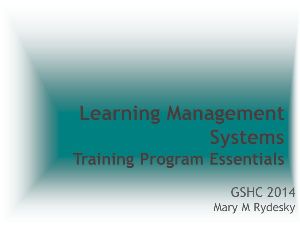 Learning Management Systems What really makes up an LMS.