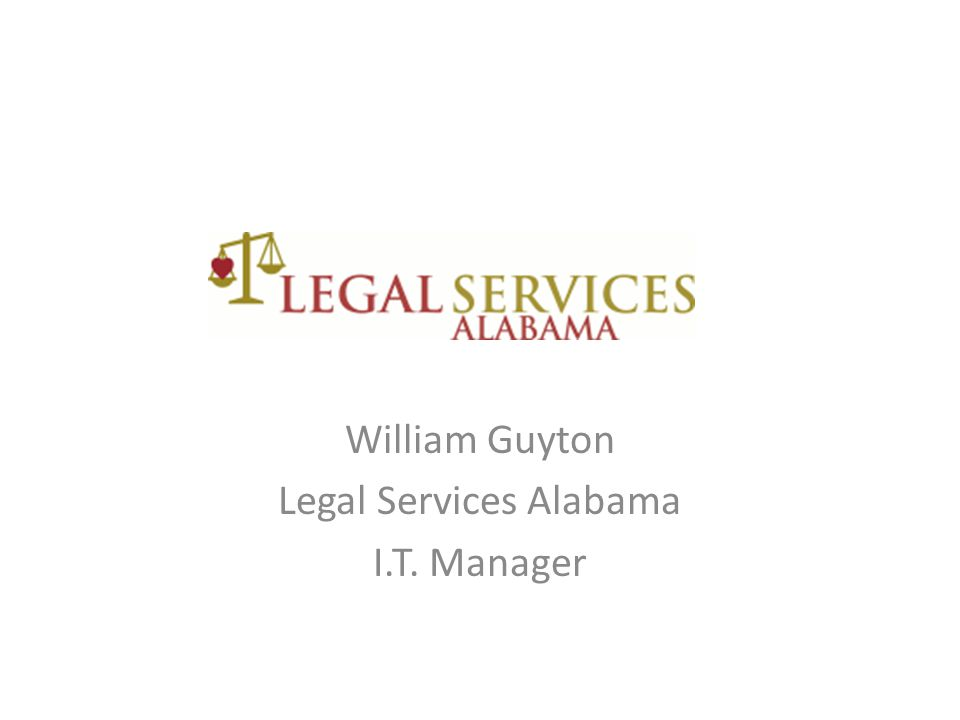 William Guyton Legal Services Alabama I.T. Manager