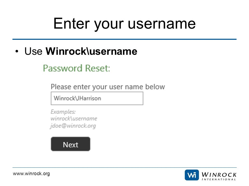 www.winrock.org Answer 3 questions Click next