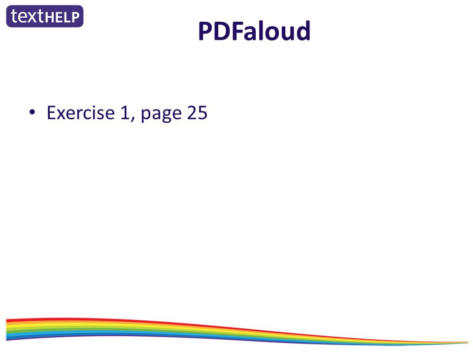 PDFaloud Exercise 1, page 25