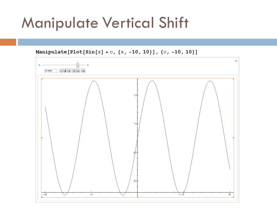 Manipulate Vertical Shift